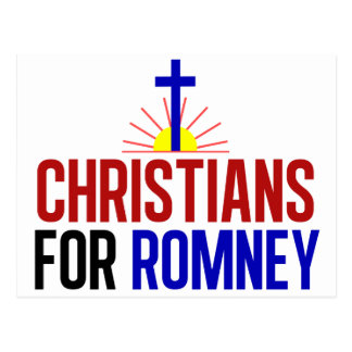 Cristianos para Romney Tarjeta Postal