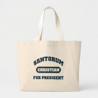 Cristianos para Santorum Bolsa Tela Grande