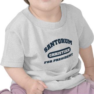 Cristianos para Santorum Camisetas