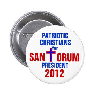 CRISTIANOS PATRIÓTICOS DEL BOTÓN DE RICK SANTORUM