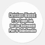Cristianos queridos… etiquetas redondas