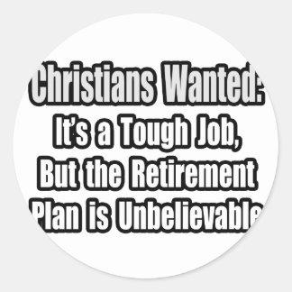 Cristianos queridos… pegatinas redondas
