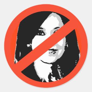 Cristina Fernández de Kirchner Pegatinas Redondas