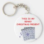 Cristmas del BINGO Llavero Personalizado