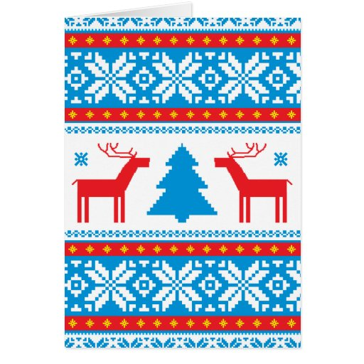 Cristmas Knitted Fabric Pattern Card