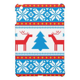 Cristmas Knitted Fabric Pattern iPad Mini Case