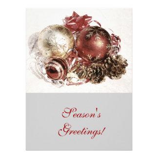 Cristmas ornaments - season s greetings corporate personalized invites