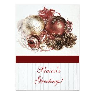Cristmas ornaments - season's greetings corporate card