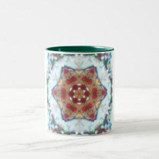 Cristmas star Two-Tone coffee mug