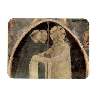 Cristo acoge con satisfacción a dos frailes domini imán