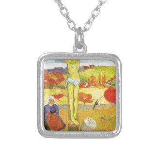 Cristo amarillo de Paul Gauguin Colgante Cuadrado