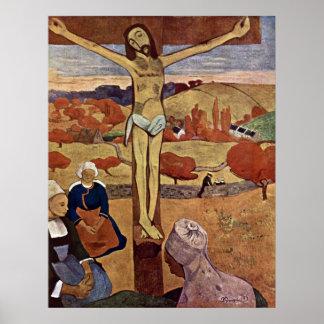 Cristo amarillo por Gauguin, impresionismo del Póster