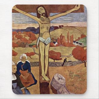 Cristo amarillo por Gauguin, impresionismo del Alfombrilla De Ratón