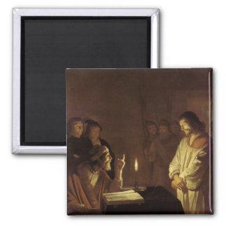Cristo ante el alto sacerdote, 1617 imanes de nevera