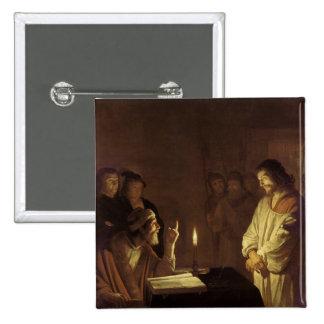 Cristo ante el alto sacerdote, 1617 pin cuadrado
