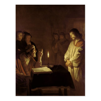 Cristo ante el alto sacerdote, 1617 postal