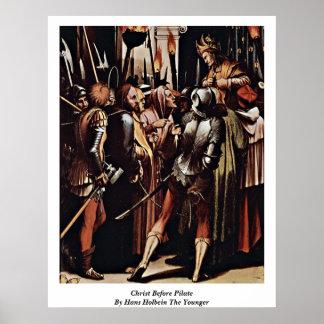 Cristo antes de Pilate de Hans Holbein el más jove Poster