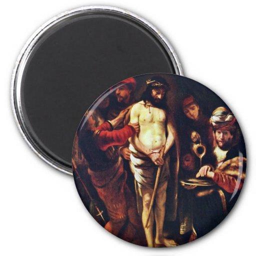 Cristo antes de Pilate de Maes Nicolaes Imán De Frigorifico