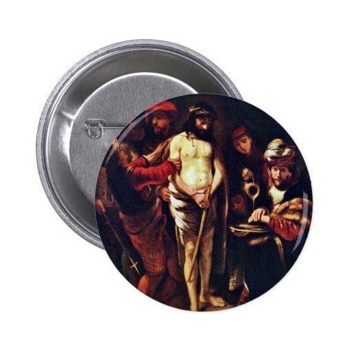 Cristo antes de Pilate de Maes Nicolaes Pin Redondo 5 Cm
