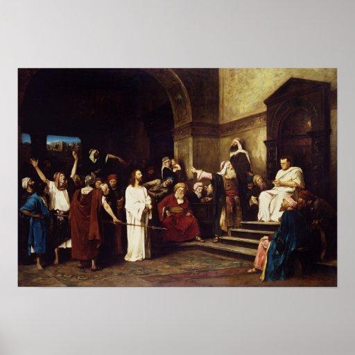 Cristo antes de Pilate Poster