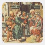 Cristo antes de Pilate Pegatina Cuadrada
