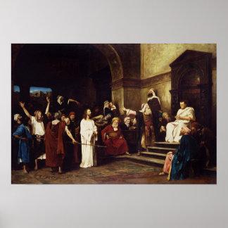Cristo antes de Pilate Póster