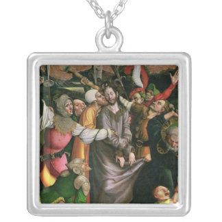 Cristo arrestó en el jardín de Gethsemane Colgante Cuadrado