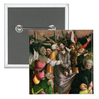 Cristo arrestó en el jardín de Gethsemane Pin Cuadrado