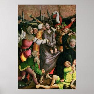 Cristo arrestó en el jardín de Gethsemane Póster