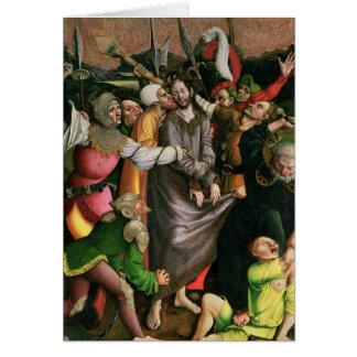 Cristo arrestó en el jardín de Gethsemane Tarjeta De Felicitación