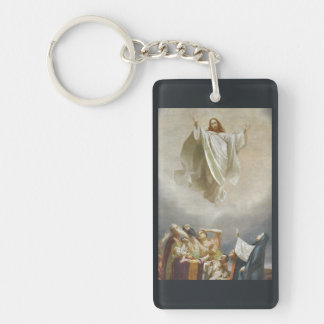 Cristo asciende al cielo por Garofalo Llavero Rectangular Acrílico A Una Cara