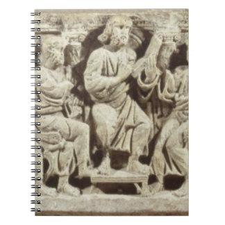 Cristo asentó y enseñanza rodeada por el Apost Libro De Apuntes