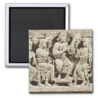 Cristo asentó y enseñanza rodeada por el Apost Imán De Frigorifico