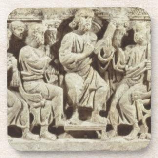 Cristo asentó y enseñanza rodeada por el Apost Posavasos De Bebidas