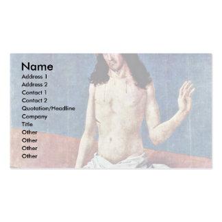 Cristo como hombre de dolores por Frueauf D. Ä. Ru Plantillas De Tarjetas De Visita