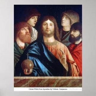Cristo con cuatro apóstoles de Vittore Carpaccio Posters