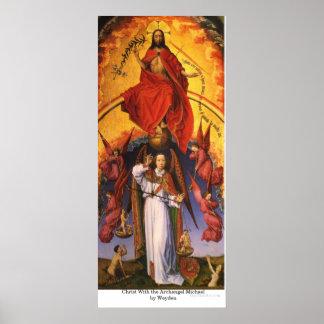Cristo con el arcángel Michael por Weyden Impresiones