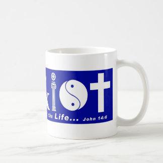 Cristo con el verso 2 taza básica blanca
