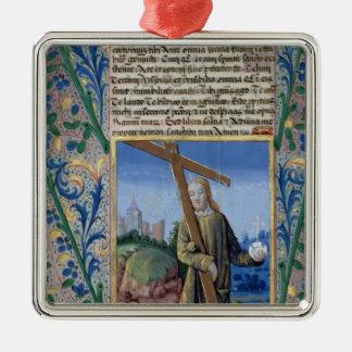 Cristo con la cruz y el orbe ornamento de navidad