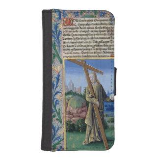 Cristo con la cruz y el orbe billetera para teléfono