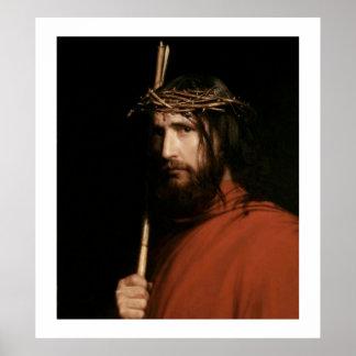 Cristo con las espinas de Carl Bloch. Poster
