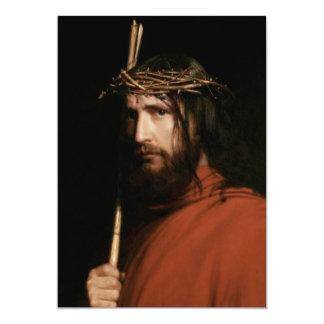 """Cristo con las espinas. Tarjetas del Invitación 5"""" X 7"""""""