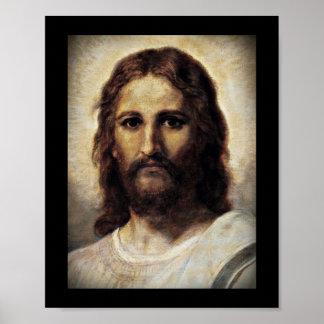 Cristo con los ojos compasivos póster