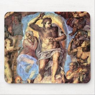 Cristo con Maria Alfombrillas De Ratón