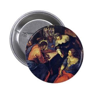 Cristo con Maria y Martha Inv 4788 por Tintoretto Pins
