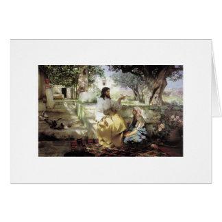 Cristo con Martha y Maria circa 1886 Tarjeta