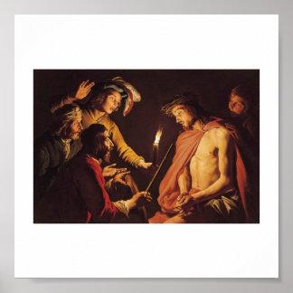 Cristo coronó con las espinas C. 1633-1639 Posters