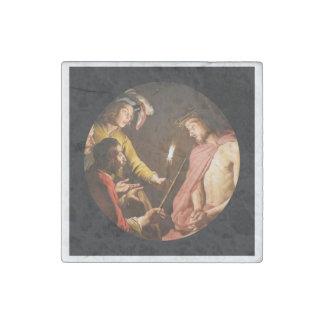 Cristo coronó con las espinas imán de piedra