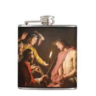 Cristo coronó con las espinas petaca