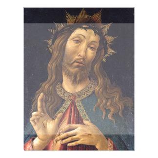 Cristo coronó con las espinas por Botticelli Tarjetas Informativas
